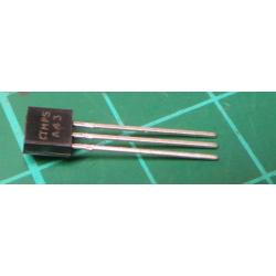 Transistor: NPN, bipolar, 200V, 500mA, 0.625 / 15W, TO92