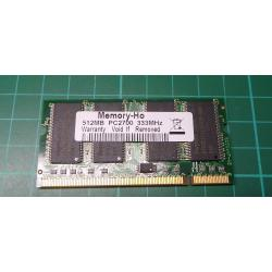 USED SODIMM, 512MB, DDR-333, PC-2700
