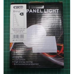 Backlight LED 12W, diameter 120mm, warm white, 230V / 12W, surface-mounted