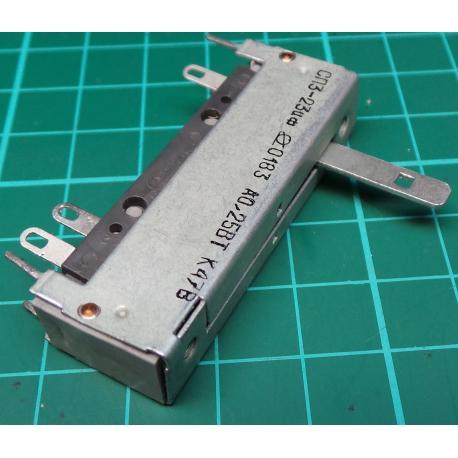 Slider, 470R, Lin, 50x12x16mm, Centre Catch