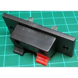 Speaker Clip Connectors, Panel Mount, Red/Black