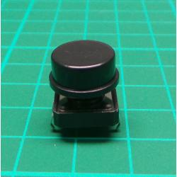 Tactile Switch PCB Tact Push Button Momentary, Black, 12 x12x 7.3mm