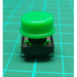 Tactile Switch PCB Tact Push Button Momentary, Green, 12 x12x 7.3mm