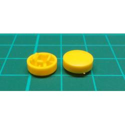 Tactile Button Caps For 12x12x7.3mm Tact Switch DE, Yellow