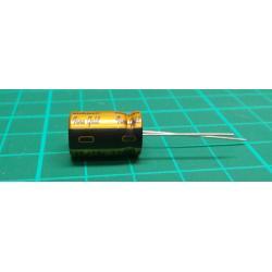 Kondenzátor: elektrolytický, THT, 330uF, 16VDC, Ø10x16mm, FG, 5mm