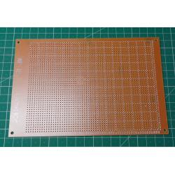 Universal PCB 12x18cm, RM2,54mm, drilled