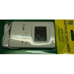 Thermometer, In/Out. -50 to 70degC, 110x70x19mm