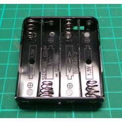 Battery Holder, 4 x AAA