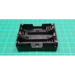 Battery Holder, 3 x AA