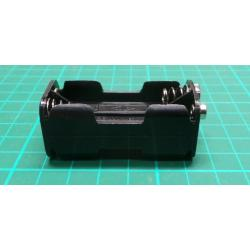 Battery Holder, 4 x AAA, Clip Connector