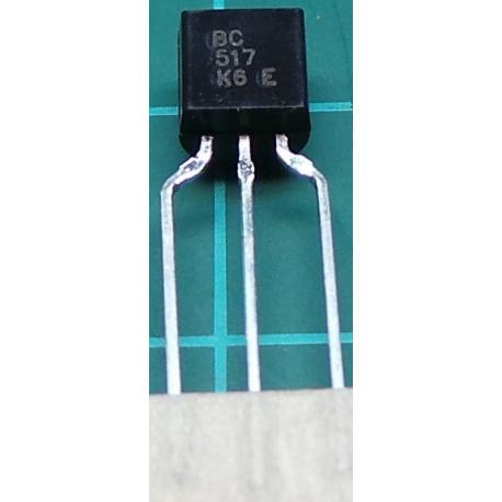 BC517, NPN Darlington Transistor, 30V, 0.4A, 0.6W