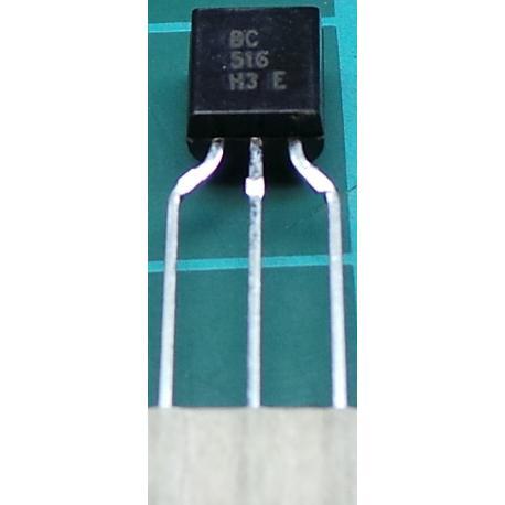 BC516, PNP Darlington Transistor, 30V, 0.4A, 0.6W