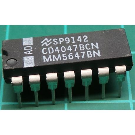 4047, Low Power Monostable Astable Multivibrator
