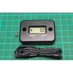 Digital LCD Waterproof Hour Meter Counter for Motorcycle Boat Quad Bike ATV Kit