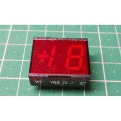 VQE12E display +1.8., Red, RFT