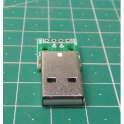 USB A, PCB connector