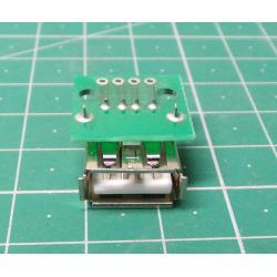 USB A, PCB socket