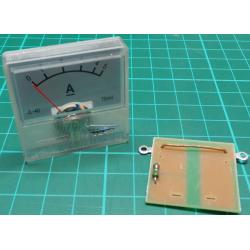 Panel Meter, Analogue, 0-5A, 40x40mm, Includes Shunt