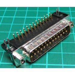 D Type, Plug, 25 Pin D, PCB Right Angled