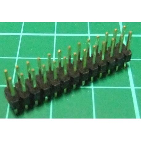 26 Pin DIL Header, Male, 2.54mm Pitch