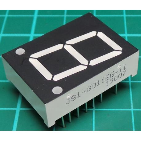 LED 7 Segment Display, Green, 20x28mm