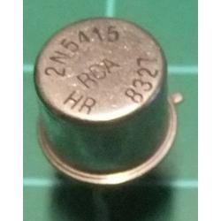 PNP Transistor, 2N5415, 200V, 0.4A, 1W