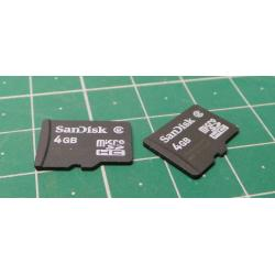 Micro SD, 4GB, CLass 2