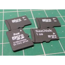 Micro SD, 1GB, Class 4