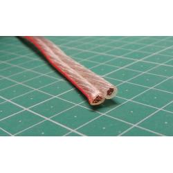 Speaker Wire, 2x2,5mm2 13AWG, transparent