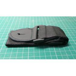 P&P Adjustable Soft Thick Cotton Strap for Electric Acoustic Guitar Bass Black
