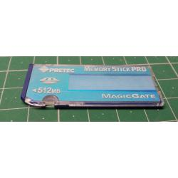 USED, Memory stock pro, 512MB, Class 4