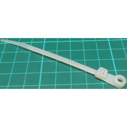 Cable Tie, 3.6x100mm, White, With Eyelet