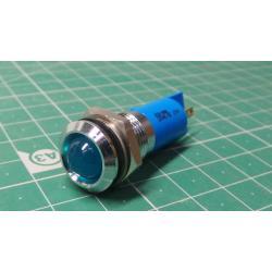 Panel Indicator, IP67, Blue, 12V, 14mm hole, RS P/N 210-686