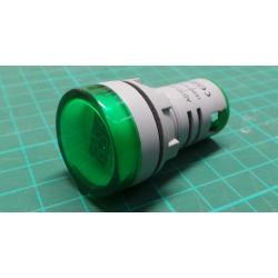 AD16-22DSV, panel MP 60-500VAC, green