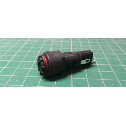 Fuse holder, Bulgin, Panel mount, for 5x20mm FUSE, IP68