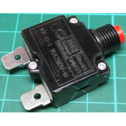 Curcuit Breaker, 16A, 250V, Supplied without mounting nut