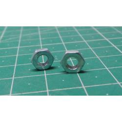 NUT, M4, Thin, For 7mm spanner, 2mm Thickness