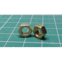 Brass NUT, M5, 8mm