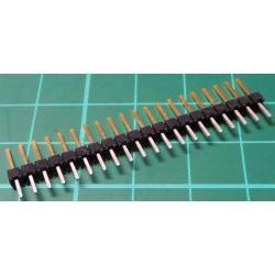 20 Pin SIL Header, Male, 2.54mm Pitch