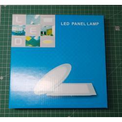 Recessed LED light 12W, 170mm, white, 230V / 12W, recessed
