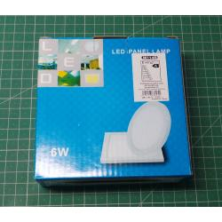 LED Downlight 6W, 120x120mm, white, 230V / 6W, surface mounted