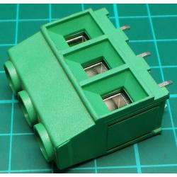 PCB Terminal Screw x3, 67 Amp, 1cm pitch, Right Angle Exit, 31x29x17mm