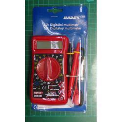 DT830D RANGE multimeter red