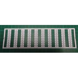 WMB marking card, as card, MARKED, K5 (10x), not stretchable, Vertical marking, snap-on type, white