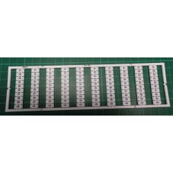 WMB marking card, as card, MARKED, 31 ... 40 (10x), not stretchable, Vertical marking, snap-on type, white