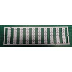WMB marking card, as card, MARKED, 1 ... 10 (10x), not stretchable, Vertical marking, snap-on type, white
