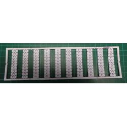 WMB marking card, as card, MARKED, F1 (10x), not stretchable, Vertical marking, snap-on type, white