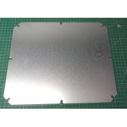 Steel mounting plate, 341x291mm