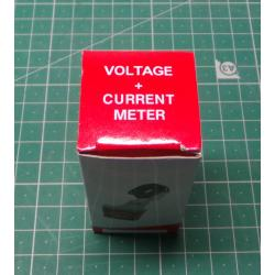 Voltmeter, ammeter AD101-22VAM panel MP 60-500VAC + 0-100AAC red