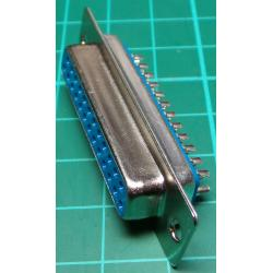 D Type, 25 Pin, Female, Solder Bucket